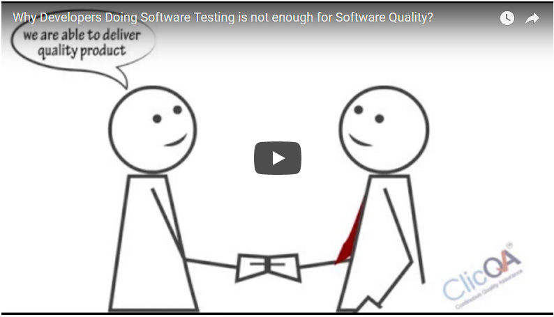 Why Developers Doing Software Testing is not enough for Software Quality?